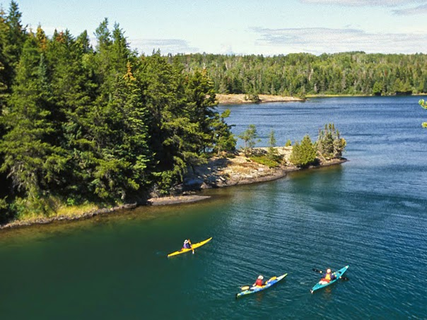 Kayaking Isle Royale